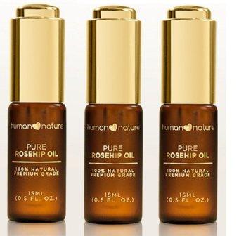 Human Nature Pure Rosehip Oil 15ml Set of 3
