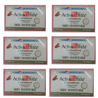 ACTIVE WHITE L-GLUTATHIONE (US-Based Formula) 60 Capsules Set 6