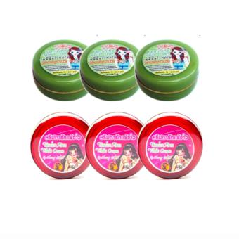 Thailand's Cherry White Underarm Cream and Feminine White Cream 5g Bundle Set of 3