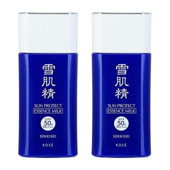 2 x KOSE Sun Protect Essence Milk N SPF50+ / PA++++ 1.8oz, 55ml - intl