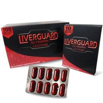 Liverguard Silymarin + Lecithin 500mg Food Supplement Box of 100 Capsules