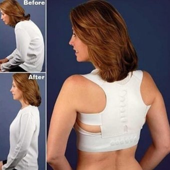 Moonar Adjustable magnetic posture support corrector back pain brace belt (M) - intl