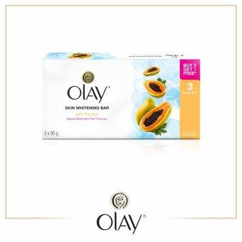 Olay Skin Whitening Bar Soap with Papaya 90g Pack of 3