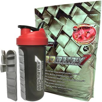 ProMatrix 7 5lb Multiple Source Protein with Pill Shaker (Strawberry)