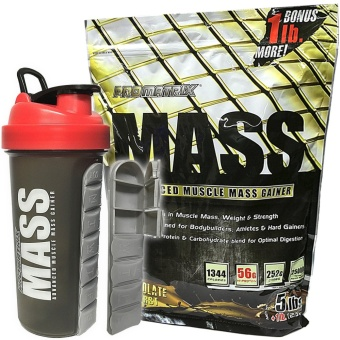 Promatrix Mass Advanced Muscle Mass Gainer 5lbs + 1lb Bonus with Pill Shaker