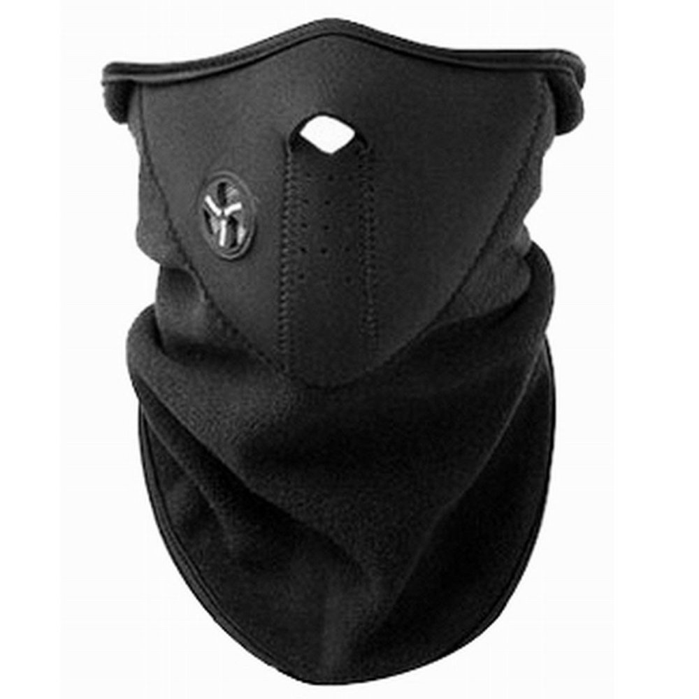 Black gloves sulit - Bike Motorcycle Motor Sports Half Face Mask And Neck Protector Black