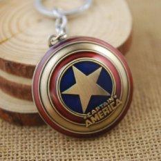 PHP 314 1pcs Movie Key Chain Captain America Shield Keychain Men Gift Key Chain Key Holder