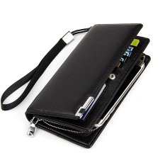 Fashion Black Long Men Wallet Famous Luxury Designer Brand Pu Leather Mens Wallets Male Business Money Card Purse - intlPHP449. PHP 461