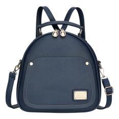 360DSC Multifunctional Women PU Casual Shoulder Bag Backpack Handbag Dark Blue Intl .