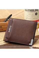 PHP 320 AtticSalt BAELLERRY New Business Men Leather Vintage Casual Woven Pattern Wallet ...