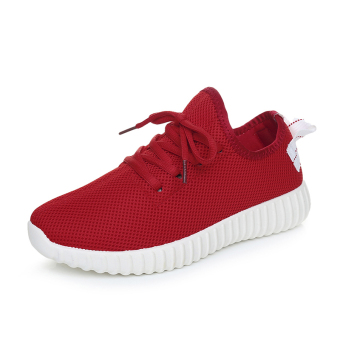 Autumn New style shoes Korean-style sports shoes (Red)