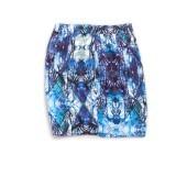 Blacksheep Graphic Printed Skirt With Basic 5-Pocket Detail (Blue)