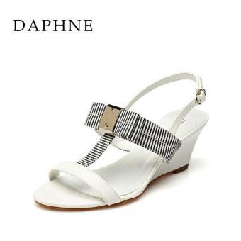 Daphne Shishang spring and summer-contrasting color sandals (White 101)