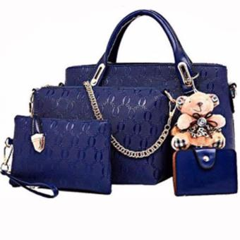 Elena 3203 Premium Bag Set (Navy Blue)