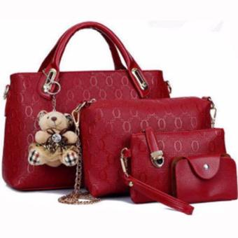 Elena 3203 Premium Bag Set (Red)