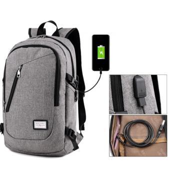 External plug-in large outdoor leisure shoulder bag( GREY)