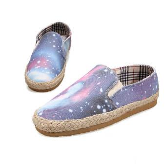Fashion Star Canvas Flat Shoes- Blue