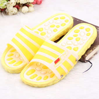 Foot acupuncture points health massage slippers (Yellow)