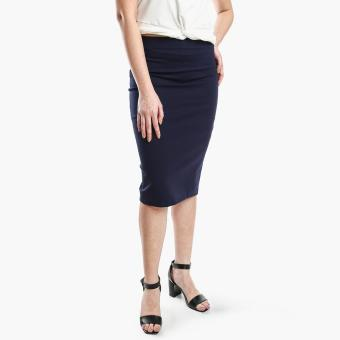 gtw knee length pencil skirt navy blue lazada ph