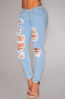 Denim Ripped Jeans for sale   Lazada Philippines