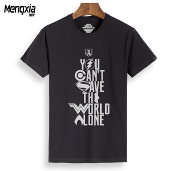 In order to save the world short sleeved t-shirt (Black union to save the world reflective Tuan)