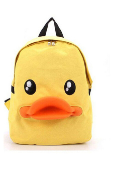 Jetting Duck 3D Backpack Bag Yellow - picture 2