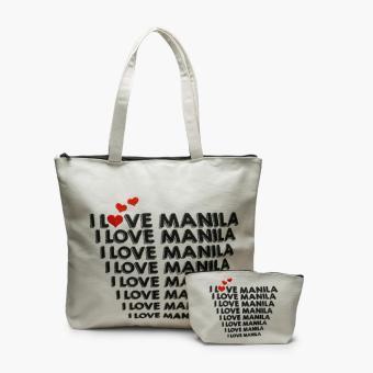 Kultura I Love Manila Tote Bag And Pouch Set Lazada Ph