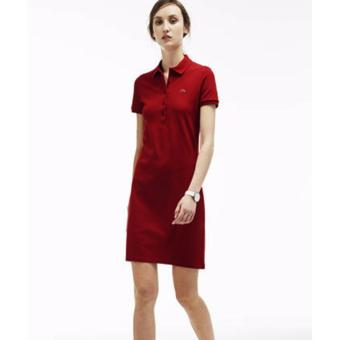 LACOSTE DRESS FOR WOMEN (BURGUNDY)