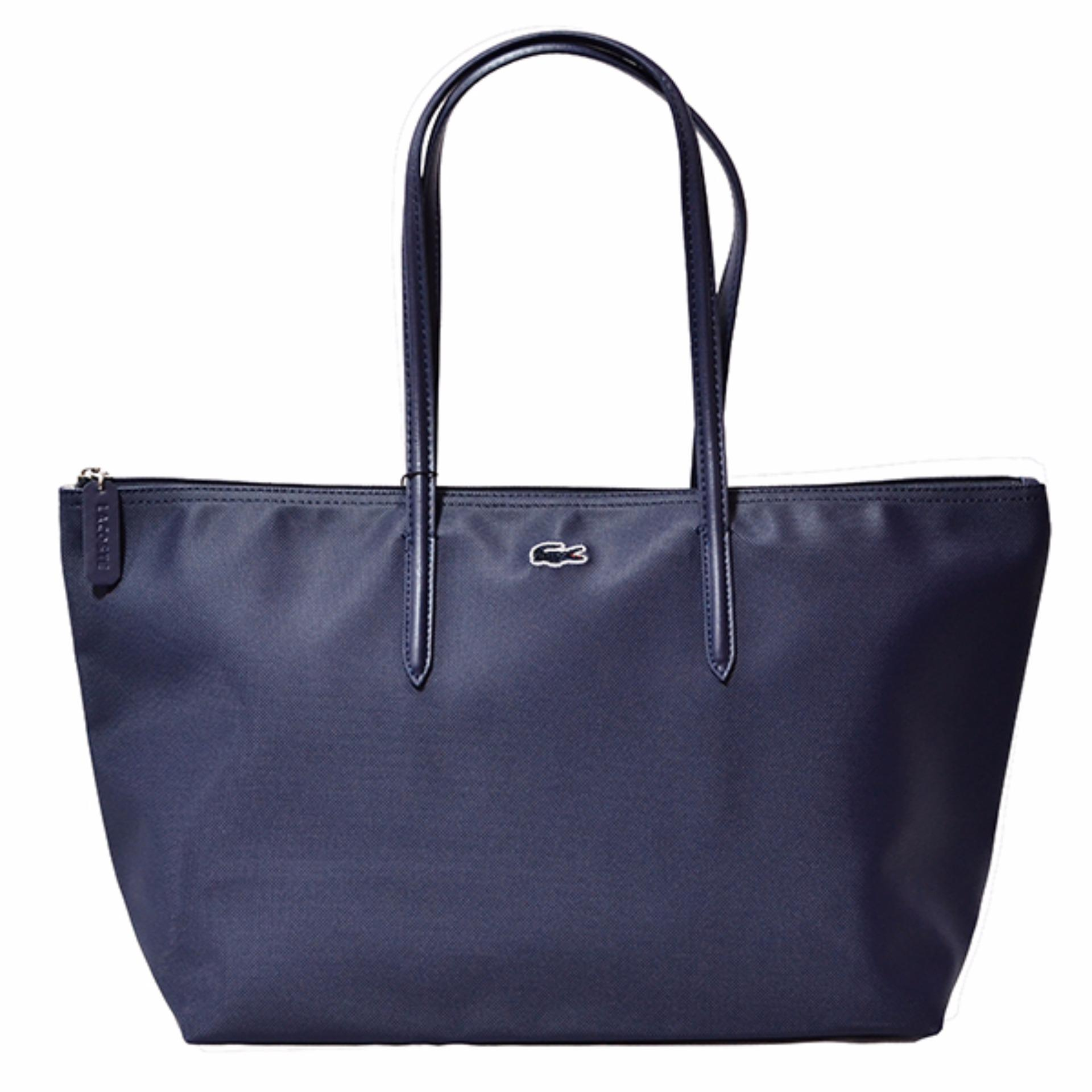 Lacoste Horizontal 2016 Edition Tote Bag (Navy Blue) | Lazada PH
