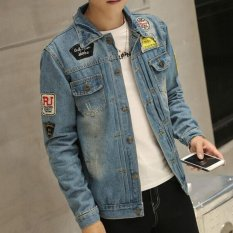 Zh Shopping Mens Cultivate Ones Morality Cowboy Clothing Jacket Blue Source · Clothes for Men for