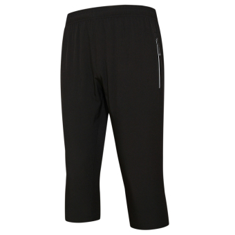 LOOESN autumn Thin Men quick-drying running pants athletic pants (Black Pant)