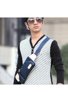 Mens outdoor Sports Crossbody Sling Bag Chest Bag (Blue)   Lazada PH