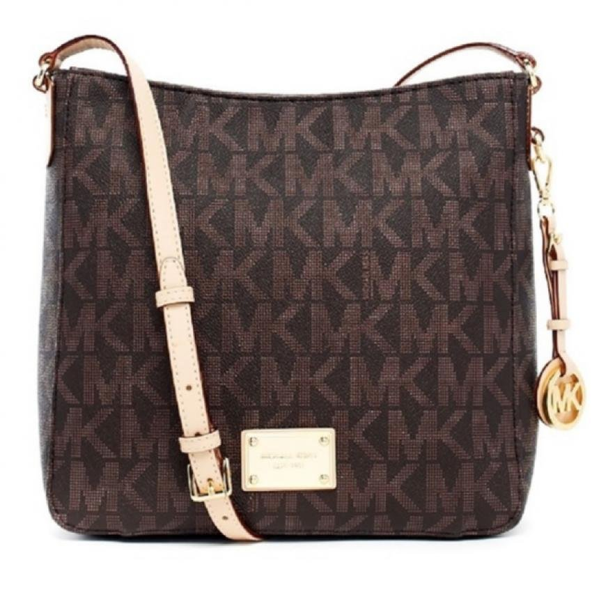 Michael Kors Jet Set Travel Large Messenger Bag (Brown)