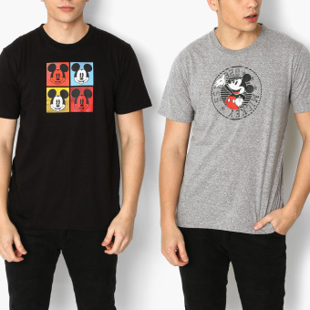 Mickey Mouse 2-piece Pop Art and Stars & Stripes Teens Tee Set (XS)