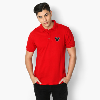 Mickey Mouse Ear Outline Teens Polo Shirt (Red)
