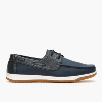 Milano Mens Iris Boat Shoes (Blue)