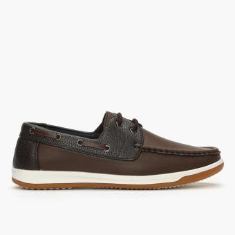 Milano Mens Iris Boat Shoes (Brown)