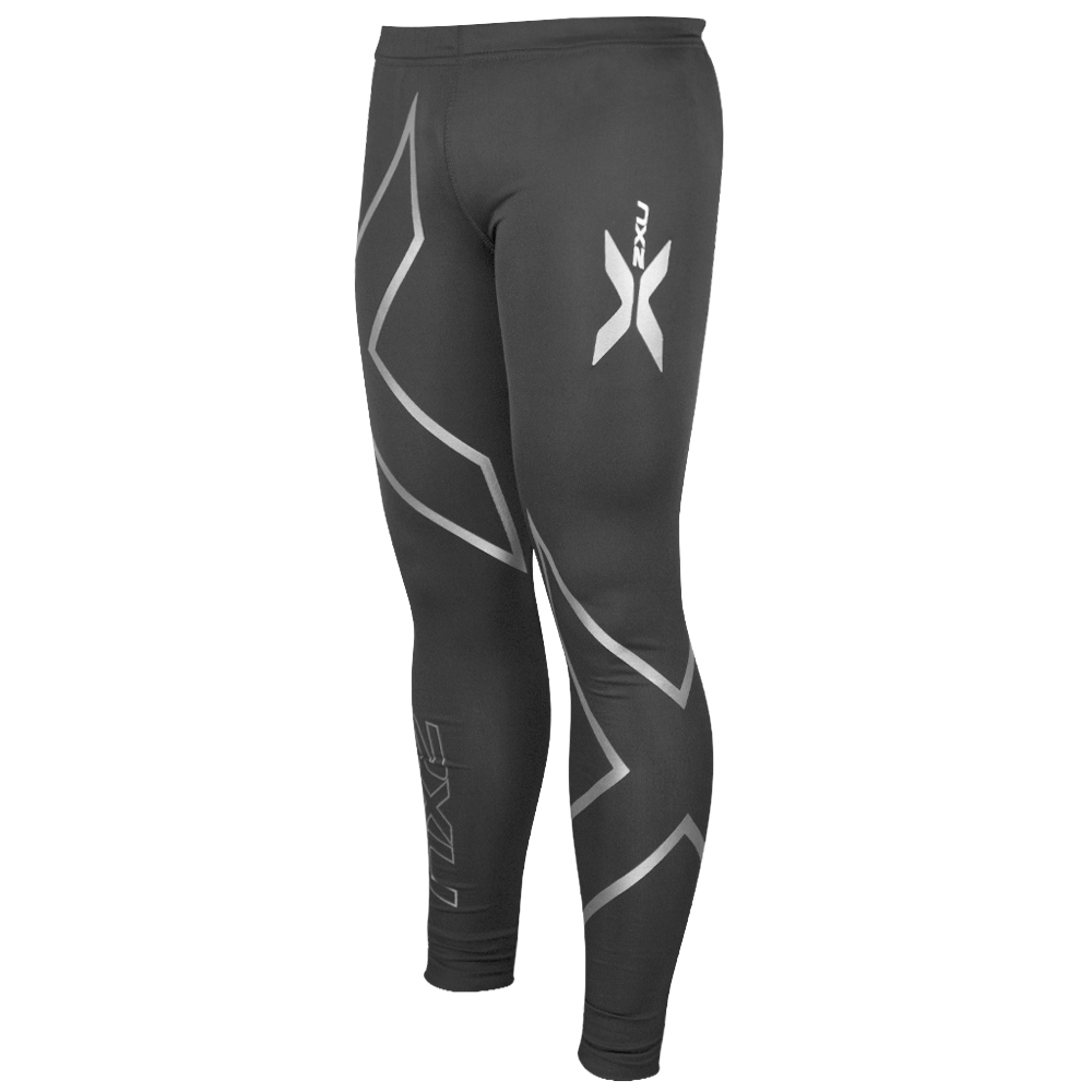 Black gloves sulit - Muscle Containment Stamping Compression Tights Black Silver