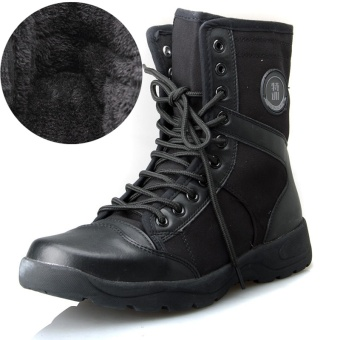 Outdoor Plus velvet hight-top Tactical boots cotton-padded shoes boots (Winter Plus velvet Models)