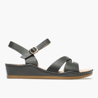 Parisian Plus Ladies Orian Wedge Sandals (Fatigue)