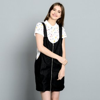 PENSHOPPE Denim Jumper Skirt (Black)