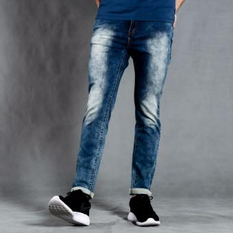 PENSHOPPE Skinny Fit Jeans in knitted denim (Blue)