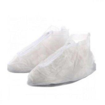 plastic zip up shoe cover white lazada ph