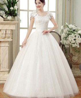 Princess Style Wedding Dress Lace White Gown