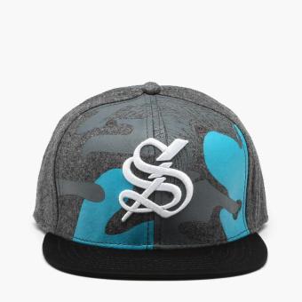 SM Accessories Mens S Snap Back Cap (Gray)
