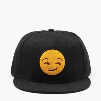 SM Accessories Mens Smug Emoji Snap Back Cap