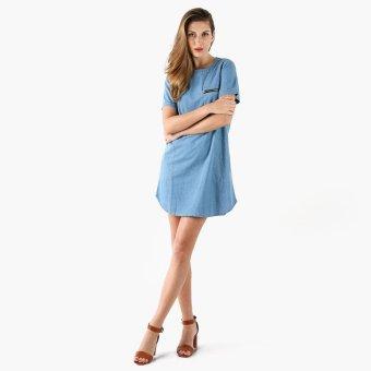 SM Woman Chambray Shift Dress (Denim)