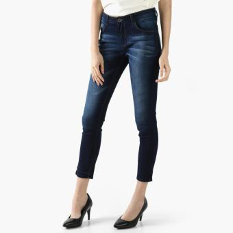 SM Woman Cropped Skinny Jeans (Navy Blue)