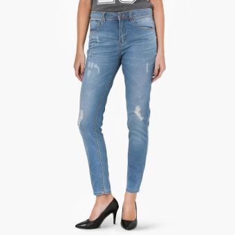 SM Woman Distressed Skinny Jeans (Blue)