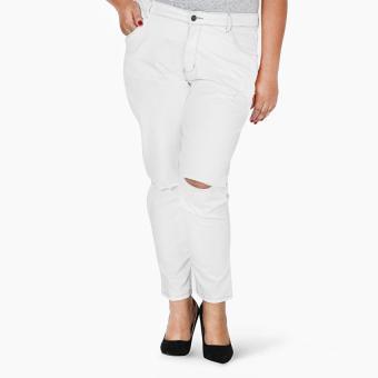 SM Woman Plus Distressed Jeans (White)